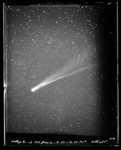 A view of Halley's Comet from the Lick Observatory, Mount Hamilton, California, June 6, 1910