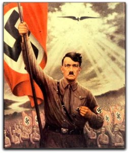 Hitler with Flag