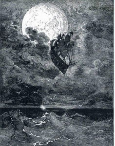 Gustave Doré - A Voyage to the Moon from The Adventures of Baron Munchausen, 1868