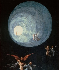 Hieronymus Bosch, Detail of Ascent of the Blessed, ca. 1500-1504